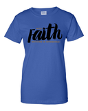 With Faith Women's Crew Neck Tee - Small / Royal Blue - Christian T-Shirt | Christian Gifts | Christian Apparel - 9