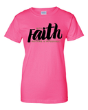 With Faith Women's Crew Neck Tee - Small / Safety Pink - Christian T-Shirt | Christian Gifts | Christian Apparel - 10