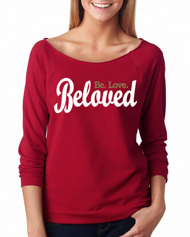 Beloved. Be.Love. Raglan 3/4 Sleeve
