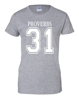 Proverbs 31Classic Fit Crew Neck Tee *Ships Same Day* - Small / Sports Grey - Christian T-Shirt | Christian Gifts | Christian Apparel - 6