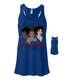 Fearfully and Wonderfully Made II Flowy Racerback Tank - Small / Royal Marble - Christian T-Shirt | Christian Gifts | Christian Apparel - 12
