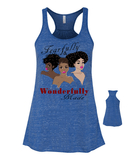 Fearfully and Wonderfully Made II Flowy Racerback Tank - X-Large / Royal Marble - Christian T-Shirt | Christian Gifts | Christian Apparel - 13