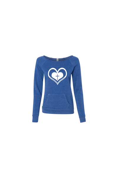 Whom My Heart Trust Womens Sweatshirt - Small / Pacific - Christian T-Shirt | Christian Gifts | Christian Apparel - 4