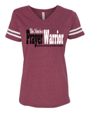 This Mom is a Prayer Warrior V-Neck Tee - S / Vintage Burgundy - Christian T-Shirt | Christian Gifts | Christian Apparel - 2