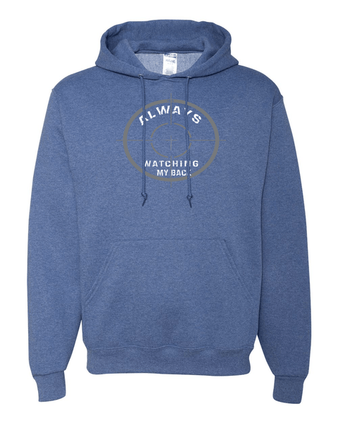 He's Always Watching My Back Hooded Sweatshirt - Small / Vintage Heather Blue - Christian T-Shirt | Christian Gifts | Christian Apparel - 15