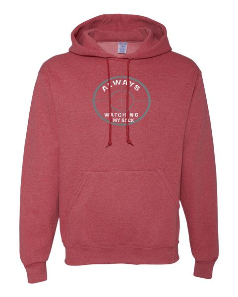 He's Always Watching My Back Hooded Sweatshirt - Small / Vintage Heather Red - Christian T-Shirt | Christian Gifts | Christian Apparel - 17