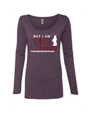 Still Standing Women's Triblend Long Sleeve Scoop Neck - Small / Vintage Purple - Christian T-Shirt | Christian Gifts | Christian Apparel - 5