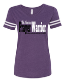This Mom is a Prayer Warrior V-Neck Tee - S / Vintage Purple - Christian T-Shirt | Christian Gifts | Christian Apparel - 1