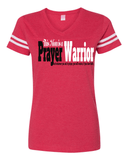 This Mom is a Prayer Warrior V-Neck Tee - S / Vintage Red - Christian T-Shirt | Christian Gifts | Christian Apparel - 4