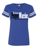 This Mom is a Prayer Warrior V-Neck Tee - S / Vintage Royal - Christian T-Shirt | Christian Gifts | Christian Apparel - 5