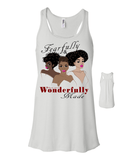 Fearfully and Wonderfully Made II Flowy Racerback Tank - Small / White - Christian T-Shirt | Christian Gifts | Christian Apparel - 14