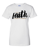 With Faith Women's Crew Neck Tee - Small / White - Christian T-Shirt | Christian Gifts | Christian Apparel - 1