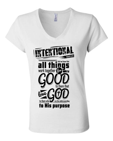 All Things Collections Women's V-Neck Classic Fit Christian T-Shirt