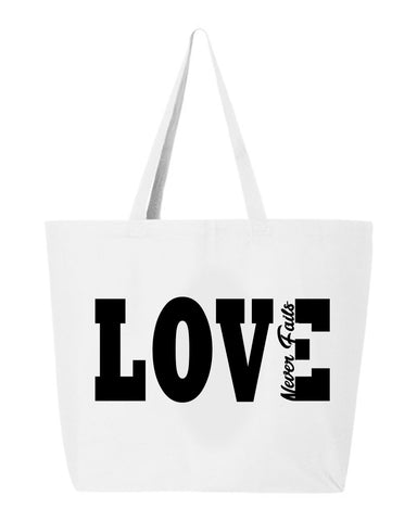 Love Never Fails Jumbo Tote