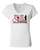 Still Standing Women's V-Neck Tee - Small / White - Christian T-Shirt | Christian Gifts | Christian Apparel - 10