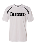 Blessed Mens Performance Christian T-Shirt - Small / White/Carbon - Christian T-Shirt | Christian Gifts | Christian Apparel - 7