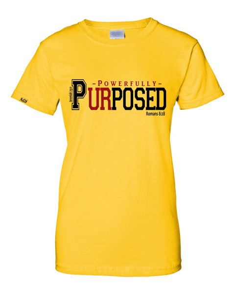 Powerfully Purposed Classic Fit Women's Tee - Small / Yellow - Christian T-Shirt | Christian Gifts | Christian Apparel - 7