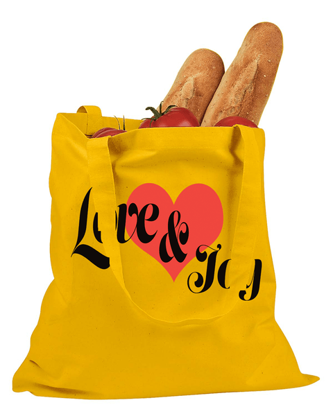 Love & Joy Cotton Canvas Tote - Yellow - Christian T-Shirt | Christian Gifts | Christian Apparel - 5