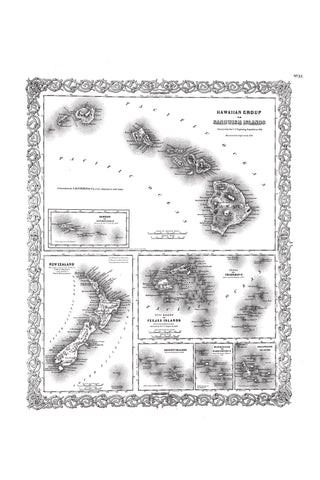 Archived Hawaii Maps and lithographs
