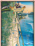 217 Custom map of the Space Coast