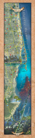 246 Custom map of the Gold Coast, FL