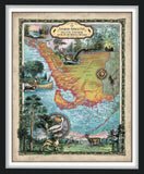 6-Map Florida Keys and Atlantic Coasts Collection