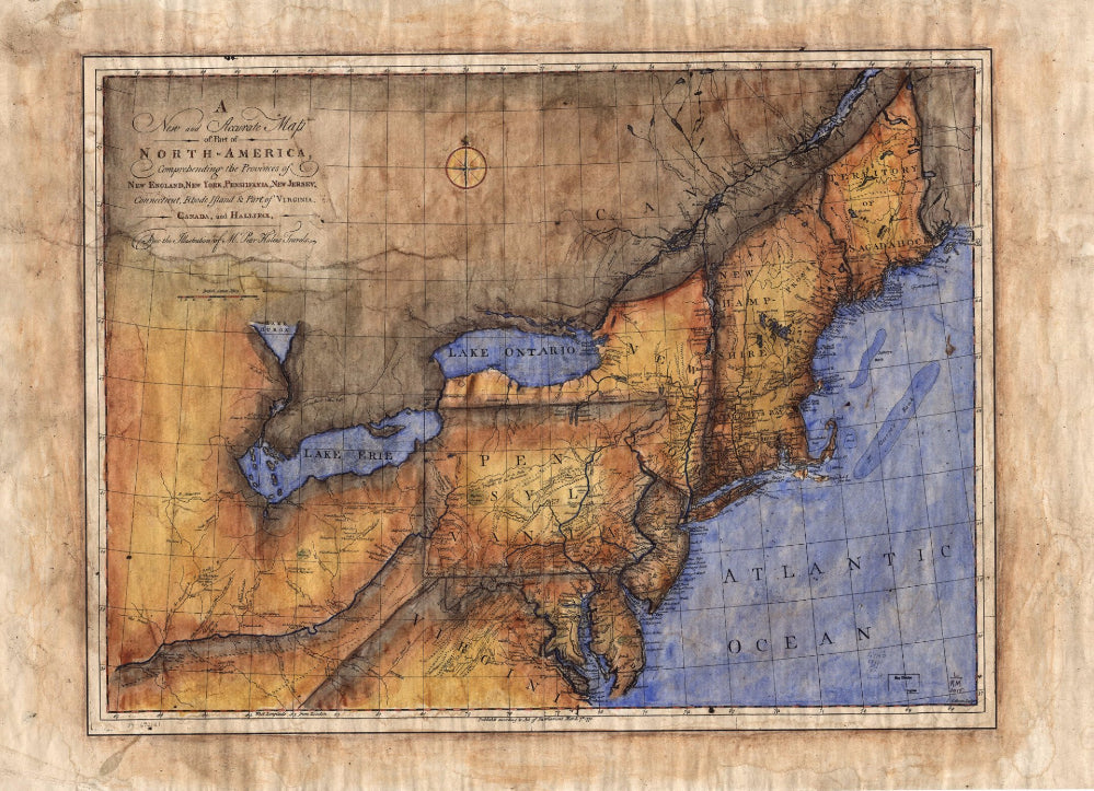 084 New and Accurate Map of Part of North America 1771