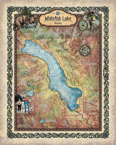Updated Whitefish Lake Map