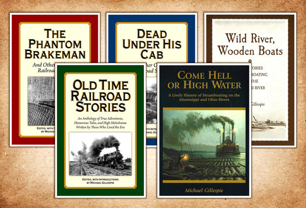 Steam Transportation Five book gift set by Michael Gillespie