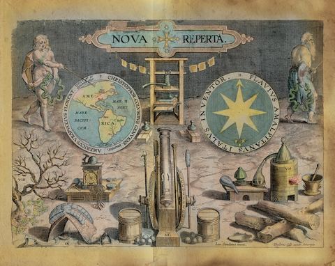 Educational Map Series: Nova Reperta, 1600 Map of the Western Hemisphere
