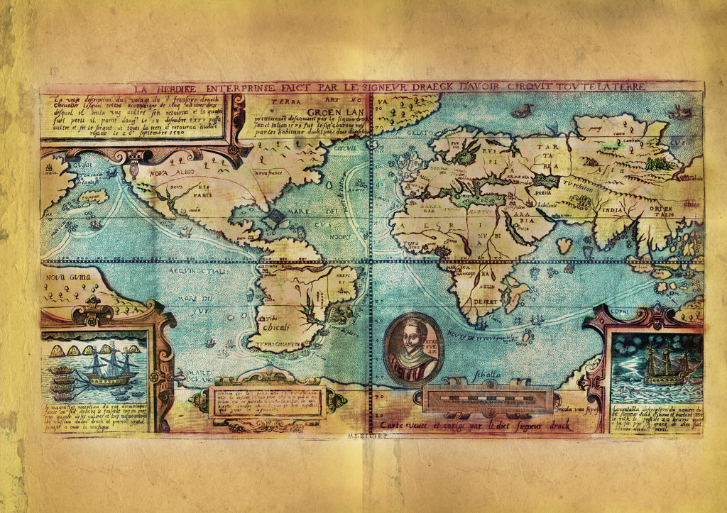 Educational Map Series: The Lost Map of Sir Francis Drake