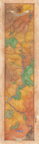 206 Colorado River Ribbon Map