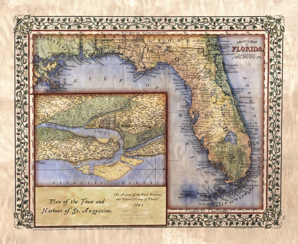 011 Adapted Florida 1847 Featuring St. Augustine 1778