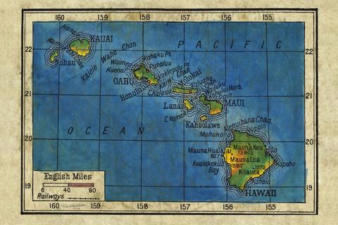 Educational Map Series: Historic Hawaii Collection