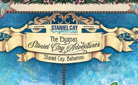 Custom Map Exuma Islands Featuring Staniel Key
