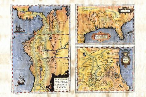 Educational Map Series: Ortelius's Regionis Typus 1570