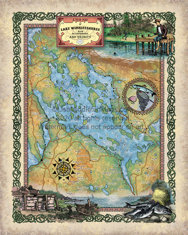 275-Lake Winnipesaukee New Hampshire Custom map