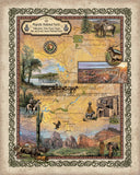245 Custom map of Majestic Western Parks Yellowstone to Grand Canyon