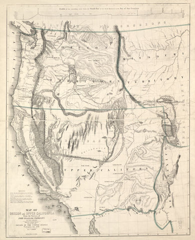 Educational Map Series: John Charles Frémont's Map of Oregon and upper California 1845-1846