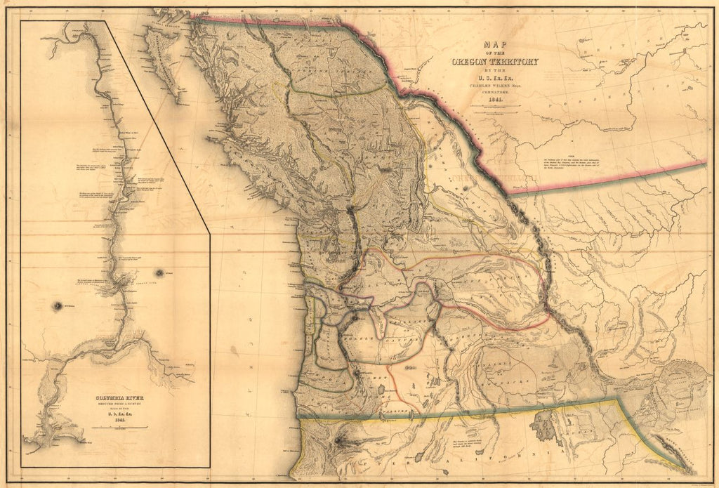 Educational Map Series: Map of the Oregon Territory, 1848