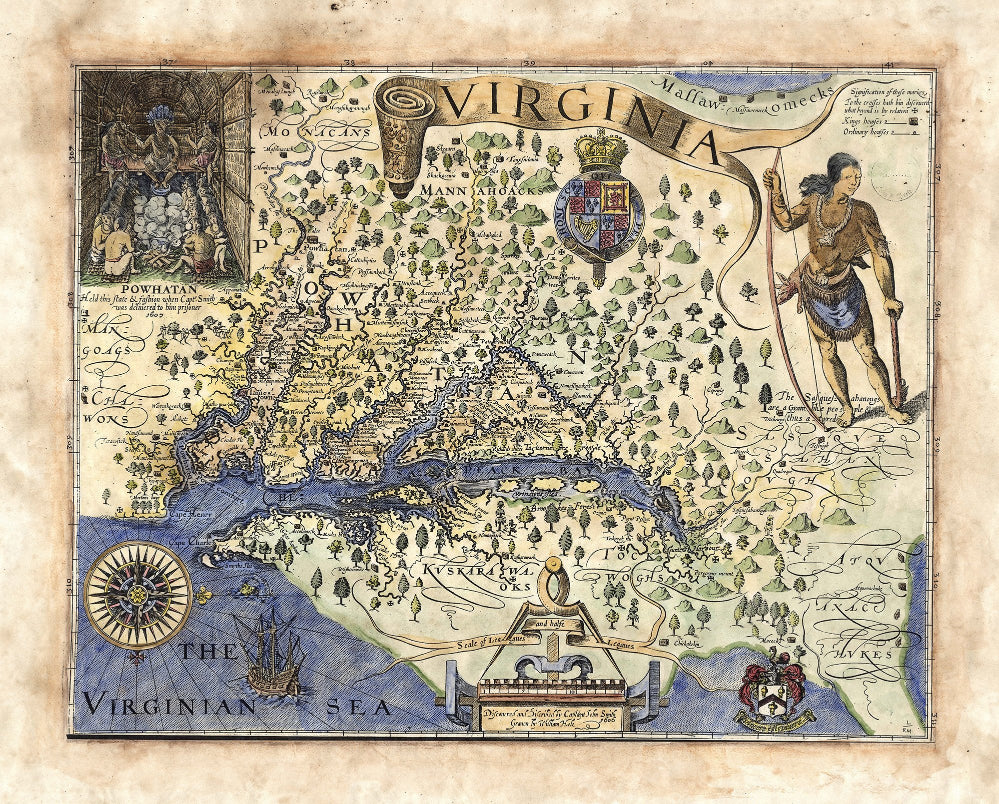 061 John Smith's Map of Virginia 1606