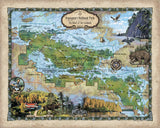 257 Custom map of Voyageurs National Park designed by Lisa Middleton