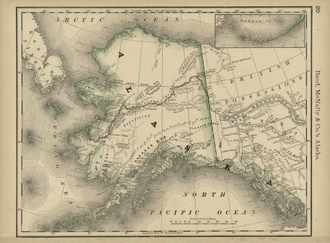 Educational Map Series: Rand, McNally & Co.'s Alaska 1878