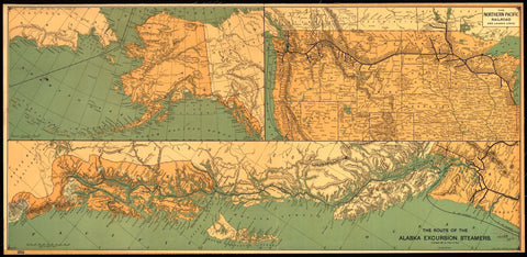 Educational Map Series: The Route of the Alaska Excursion Steamers