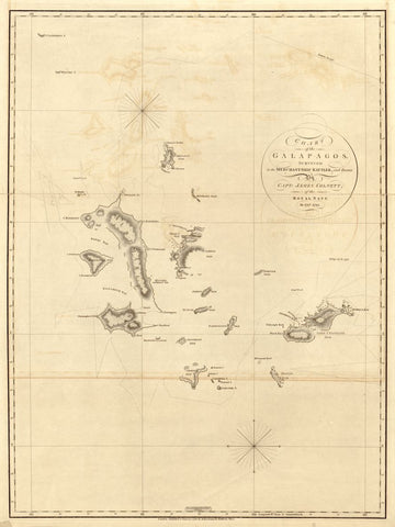 Educational Map Series: Earliest Chart of the Galapagos A. Arrowsmith, 1798