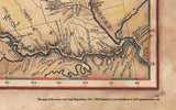 212 Lewis and Clark Expedition Map 1804-1806