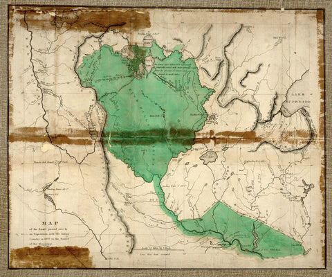 Educational Map Series: 1832 attempt to route to the source of the Mississippi