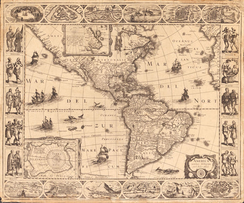 Educational Map Series Antarctic Exploration: America, noviter delineata 1622
