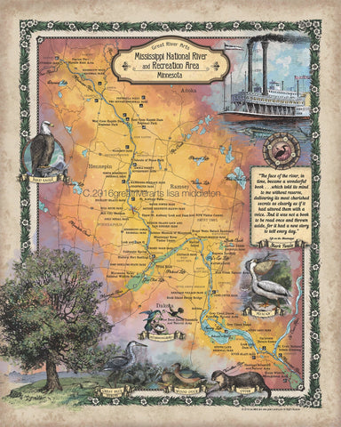 214 MNRRA Mississippi River Custom Map