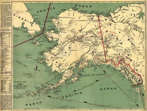 Educational Map Series: Millroy's map of Alaska and the Klondyke gold fields.